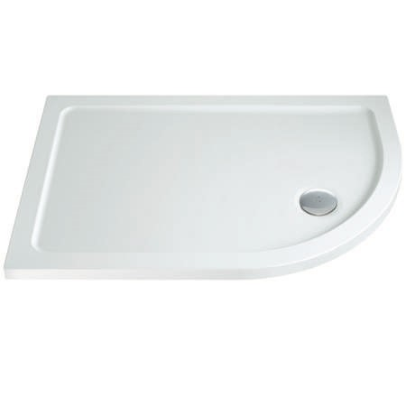 Offset Quadrant Right Hand Low Profile Shower Tray 900 x 800mm - Slim Line