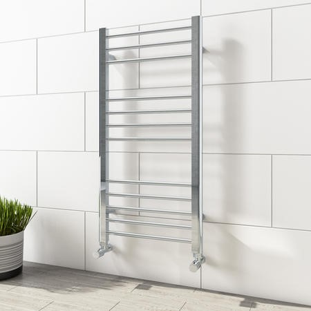 Sahara Chrome Heated Towel Rail - 1000 x 500mm