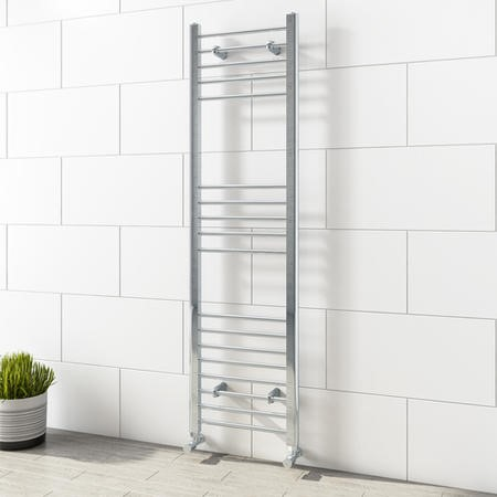 Sahara Chrome Heated Towel Rail - 1600 x 450mm