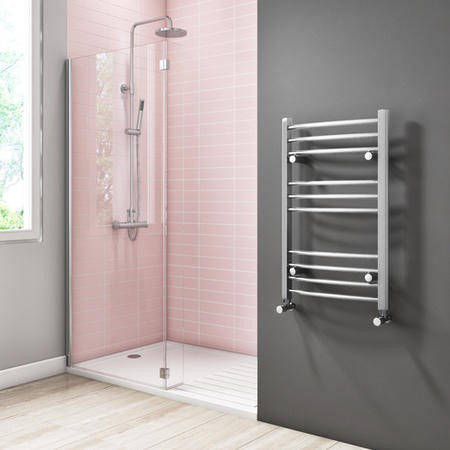Gobi Chrome Heated Towel Rail - 800 x 500mm