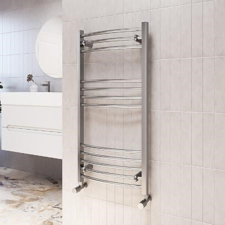 Gobi Chrome Heated Towel Rail - 1000 x 500mm