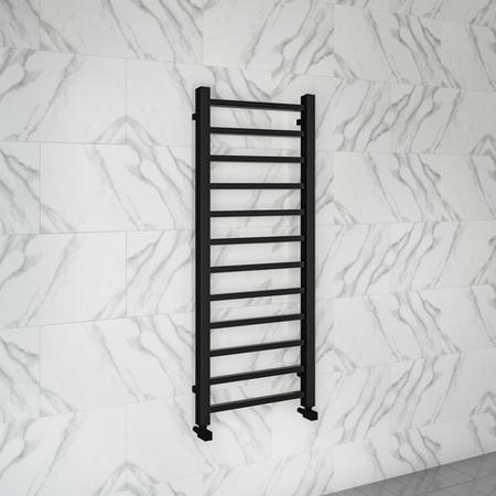 1200mm x 500mm Matt Black Towel Rail - Sonoran