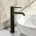 Arissa Round Single Lever Tall Basin Mixer Tap - Black