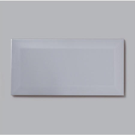 10cm x 20cm Metro Bevelled Grey Wall Tile