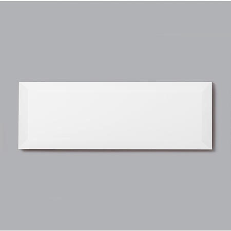 10cm x 30cm Metro Bevelled White Wall Tile