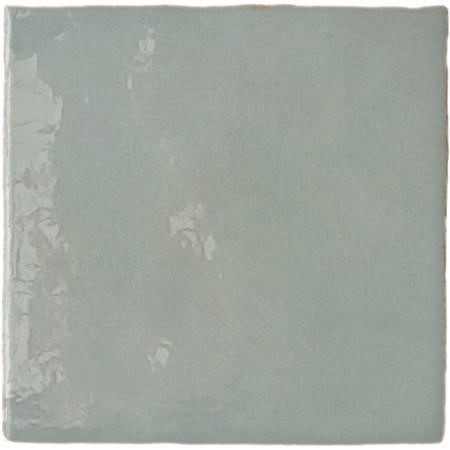 13.2cm x 13.2cm Sombra Square Teal Wall Tile