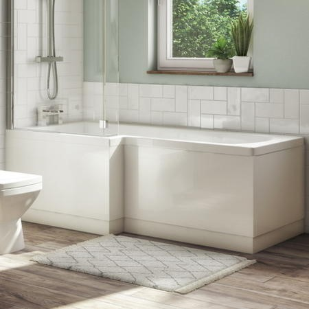 Ashford L Shape Bath Front Panel - White Gloss