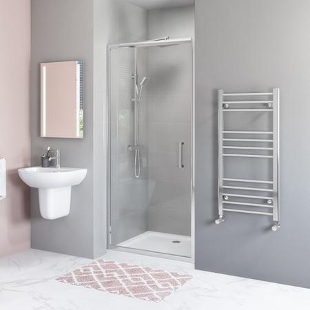 Hinged Shower Door 800mm 6mm Glass - Juno Range
