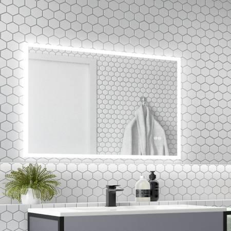 Divine Illuminated LED Bathroom Mirror with Demister Bluetooth & Shaver Socket - 800 x 600mm