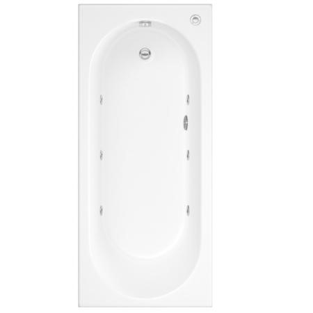 Alton Single Ended Bath with 6 Jet Whirlpool System - 1800 x 800mm