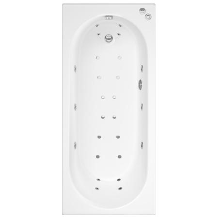 Alton Single Ended Bath with 14 Jet Whirlpool System and 12 Jet Airspa System - 1700 x 750mm