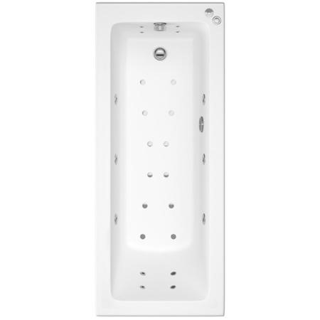 Rutland Square Single Ended Bath With 14 Jet Whirlpool and 12 Jet Airspa System -1800 x 800mm