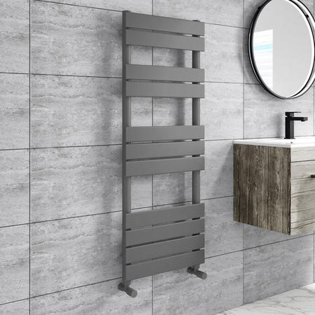 Tundra Anthracite Heated Towel Rail - 1200 x 450mm