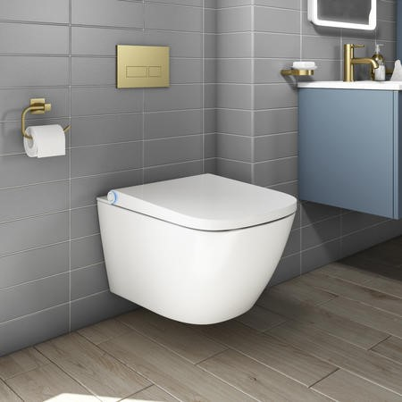 Purificare Wall Hung Square Bidet Toilet
