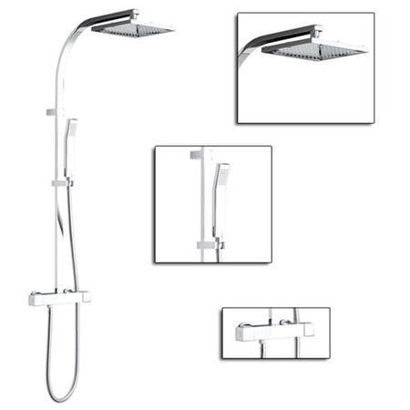 Veto Square Shower with Rigid Riser and Slide Kit