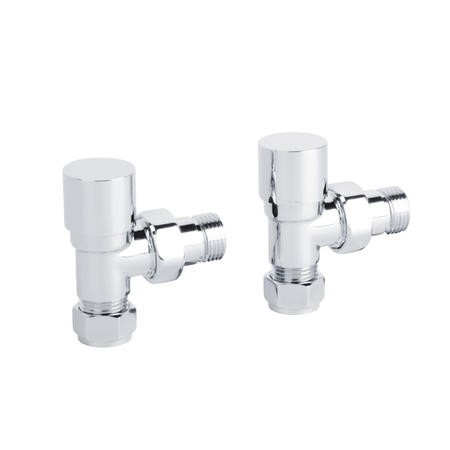 Deluxe Angled Chrome Radiator Valves