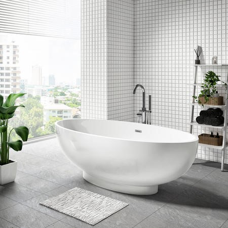 Oval Freestanding Double Ended Bath - 1680 x 800mm
