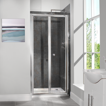 Bi-Fold Shower Door - 700mm - 6mm Glass - Aquafloe