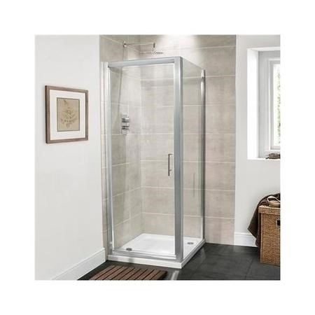 800mm Pivot Shower Door 6mm Glass - Aquafloe