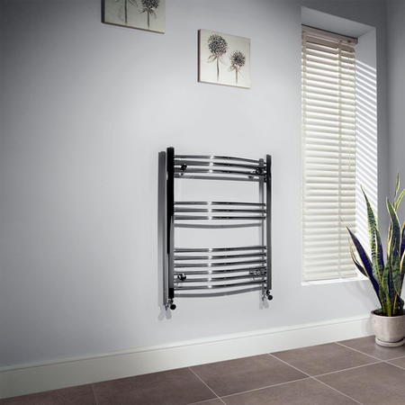 Beta Heat 760 x 600mm Curved Chrome Heated Towel Rail
