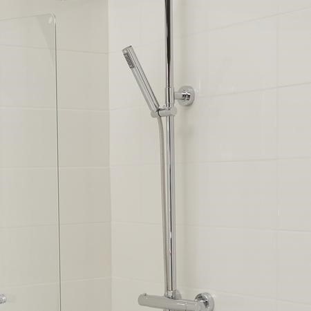 Chrome Shower Pole & Slide Kit