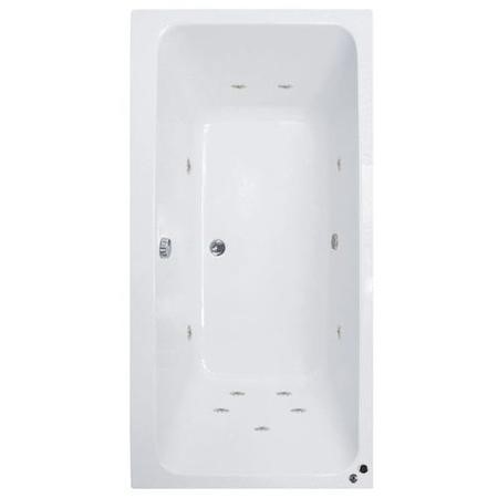 Turin Double Ended Bath with 11 Jet Whirlpool & 12 Jet Airspa - 1800 x 1100mm