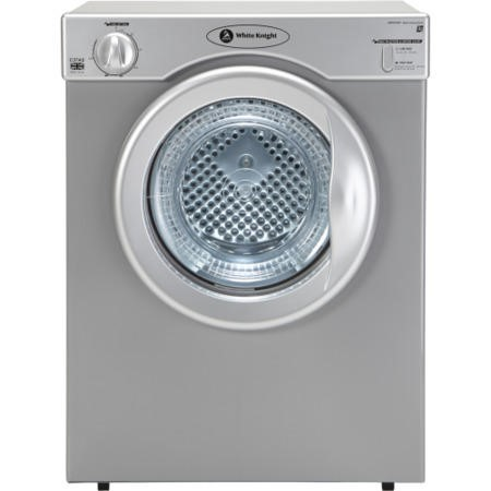 White Knight C37AS 3kg Freestanding Vented Tumble Dryer Silver