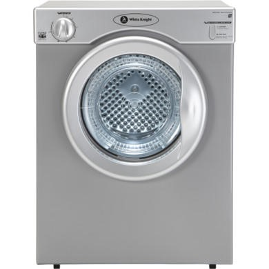 White Knight C37AS 3kg Freestanding Vented Tumble Dryer - Silver