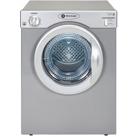 White Knight C39AS 3.5kg Freestanding Vented Tumble Dryer - Silver