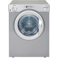 White Knight C39AS 3.5kg Freestanding Vented Tumble Dryer Silver With Reverse