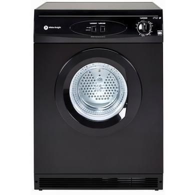White Knight C44A7B 7kg Freestanding Vented Tumble Dryer - Black