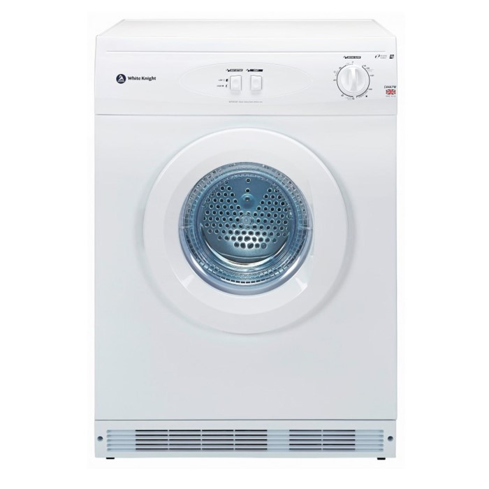 White Knight C44A7W 7kg Freestanding Vented Tumble Dryer