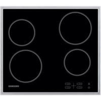 Samsung C61R1AAMST 58cm Wide 4 Zone Ceramic Hob With Stainless Steel Frame