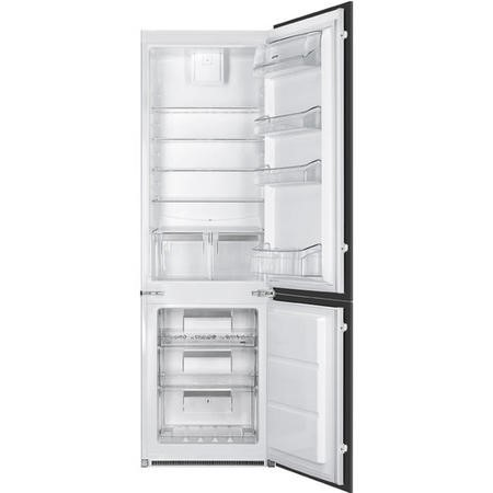 Smeg UKC7280NEP1 C7280NEP 54cm Wide Frost Free 60-40 Integrated Upright In-Column Fridge Freezer - White