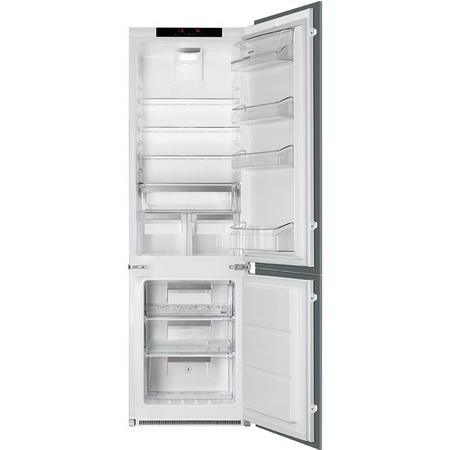 Smeg C7280NLD2P 54cm Wide Frost Free 60-40 Integrated Upright In-Column Fridge Freezer - White