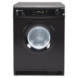 White Knight C86A7B 7kg Electronic Sensing Freestanding Vented Tumble Dryer Black