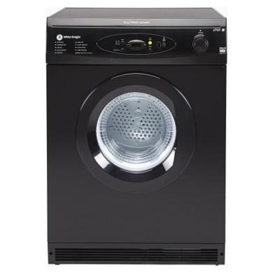 White Knight C86A7B 7kg Freestanding Vented Tumble Dryer - Black