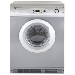 White Knight C86A7S 7Kg Electronic Sensing Freestanding Vented Tumble Dryer Silver