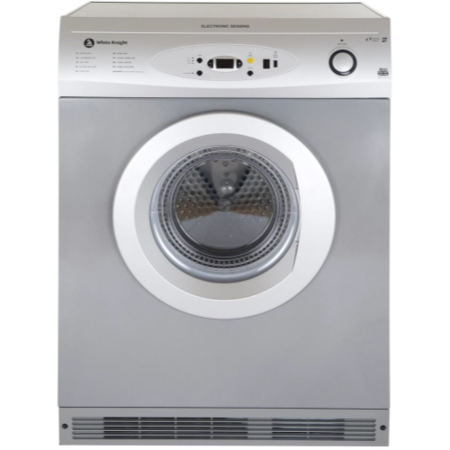 White Knight C86AS 6kg Air Vented Tumble Dryer Silver
