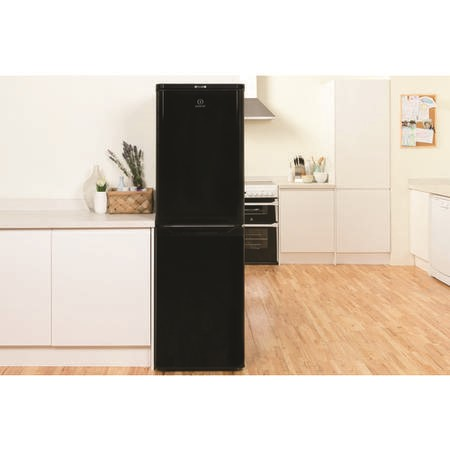 Indesit CAA55K 55cm Wide Freestanding Fridge Freezer - Black