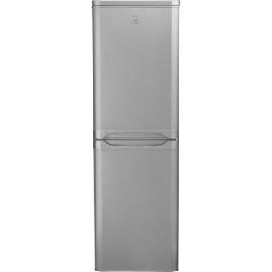 GRADE A2 - Indesit CAA55SI 55cm Wide Freestanding Fridge Freezer in Silver
