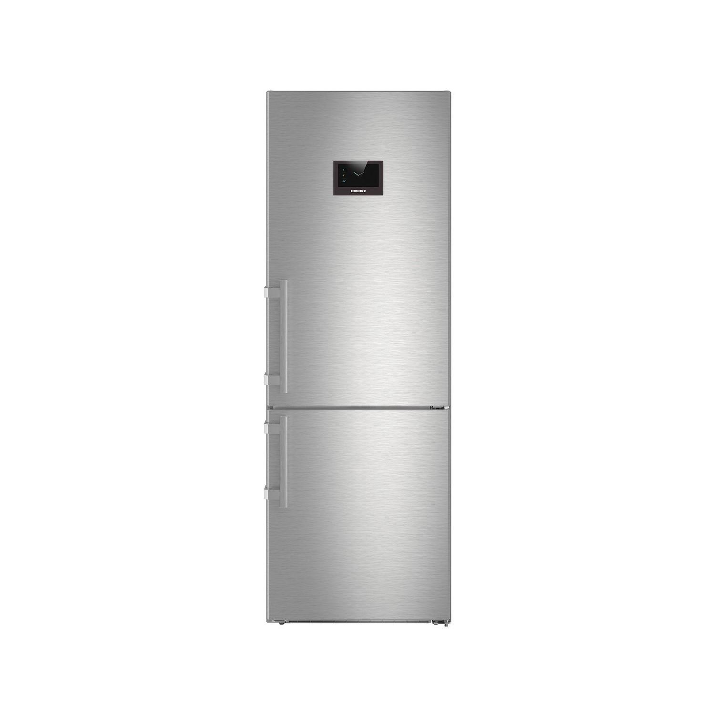 Liebherr CBNPes5758 201x70cm 381L BioFresh NoFrost Freestanding Fridge  Freezer - Stainless Steel