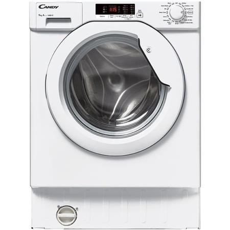 Candy CBWM914S-80 9kg 1400rpm Spin Integrated Washing Machine - White