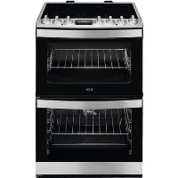 AEG CCB6740ACM 60cm Double Oven Electric Cooker with Ceramic Hob - Stainless Steel Best Price, Cheapest Prices