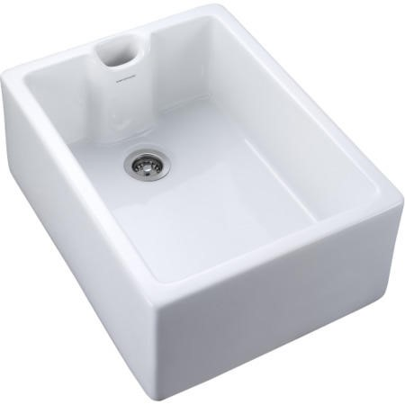 GRADE A1 - Rangemaster CCBL595WH Classic Belfast 595x455 1.0 Bowl Ceramic Sink White
