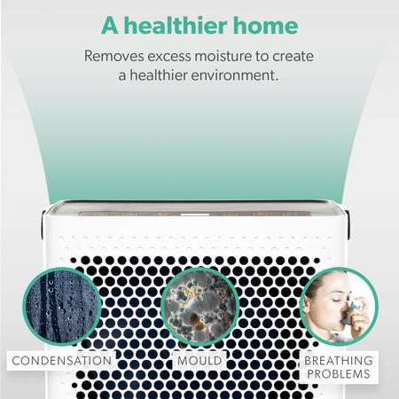 10 litre Digital Dehumidifier with Humidistat for up to 3 bed house