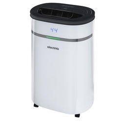 ElectriQ 12L Low Energy Premium Dehumidifier for up to 3 bed house with Digital Humidistat and UV Plasma Air Purifier