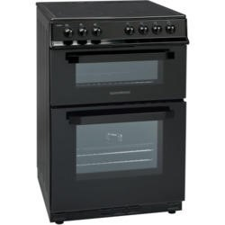 NordMende CDEC60BK Double Oven Black 60cm Electric Cooker With Ceramic Top