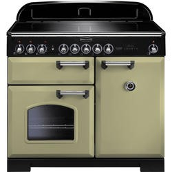 Rangemaster 100920 Classic Deluxe 100cm Electric Range Cooker with Induction Hob - Olive Green