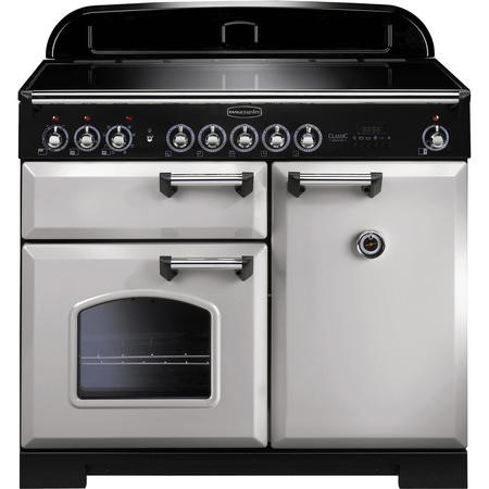 Rangemaster 100640 Classic Deluxe 100cm Electric Range Cooker with Induction Hob - Royal Pearl